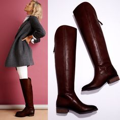 An equestrian-inspired classic. Note: Brown leather has distressed touches at toe and heel.