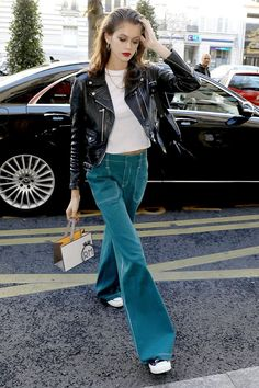 779fcd9629 The Best Celebrity Outfits of Fall 2018 (So Far) Azul Claro