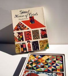 Charles Eames - Vintage Giant House of Cards -