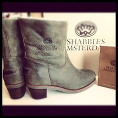 Green grey leather ankle Shabbies Amsterdam boots with heel, instagram by   babettedemunk ccf82ef60e