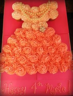 Cupcake dress for Mya's 4th Dress-Up & Spa Party :) by marcy