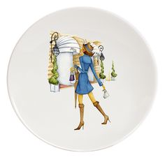 From Paris with Love Porcelain Plates #1 Le Paris de Madame-Ritz Haviland (1)