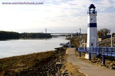 Lighthouse on the Mississippi River in Clinton County, IA