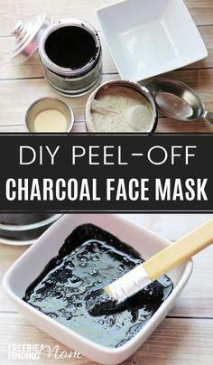 Activated charcoal peel mask #CharcoalMaskPeel Face Mask For Blackheads, Acne Face Mask, Diy Face Mask, Face Face, Face Skin, Activated Charcoal Face Mask, Charcoal Mask Peel, Pore Mask, Blackhead Mask