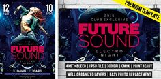 Future Sound – Premium Flyer Template #exclusiveflyer #FutureSound #psd #flyertemplate http://www.exclusiveflyer.com/premium-templates/future-sound-premium-flyer-template/