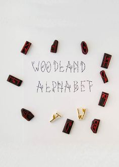 A beautiful unique woodland inspired alphabet stamps for your handmade projects.    These are available either as single initial capital letters or