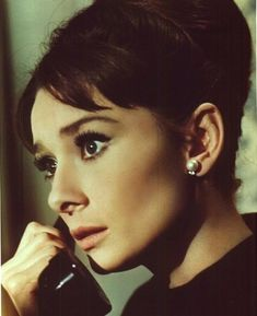 """""""Audrey Hepburn on the phone."""" was the description and I yelled; My goodness! Thank heaven for people like whoever that wrote that description! Audrey Hepburn Charade, Audrey Hepburn Photos, Audrey Hepburn Style, Aubrey Hepburn, Golden Age Of Hollywood, Classic Hollywood, Old Hollywood, British Actresses, Favim"""
