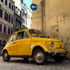 Fiat 500 - I like to pay homage to the Yellow taxis of the world and other cars that happen to be yellow ! https://www.youtube.com/watch?v=jdNjqN_7tXs