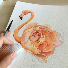 I really love the idea of integrating a peach rose in with a Flamingo. This has given me ideas for my foot piece. Hmm...