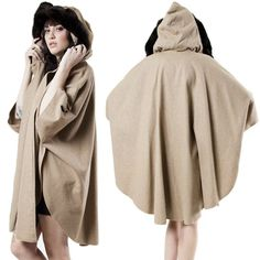 1970 Fur Collar Beige Cape by rumors on Etsy, $78.00