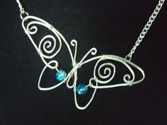 Butterfly Necklace Wire Wrapped