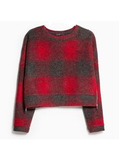 Pull en laine à carreaux, Mango, 19,99 €