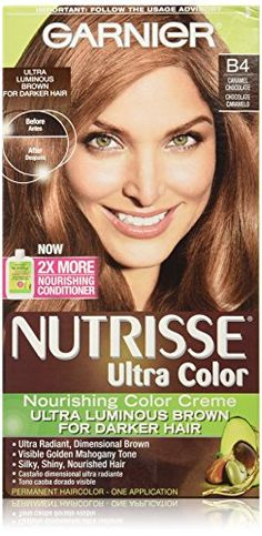 Garnier Nutrisse Ultra Color Nourishing Creme B4 C Chocolate Brownhair Caramelnail
