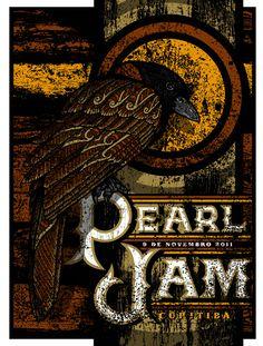 Pearl Jam poster by Brad Klausen, 11-09-11
