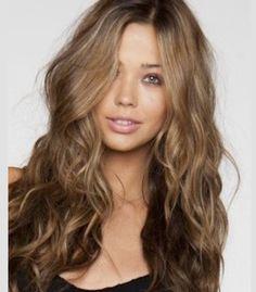 Light brown hair.