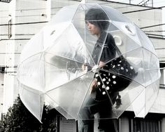 Cool Umbrellas and Creative Umbrella Designs 7 Bubble Umbrella, Under My Umbrella, Large Umbrella, Dome Umbrella, Funny Umbrella, Clear Umbrella, Rainy Day Fun, Rainy Days, Rainy Weather