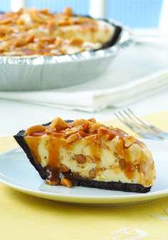 Tin Roof Pie – With a chocolatey cookie crust, vanilla ice cream, and an ooey gooey caramel topping, this pie recipe is one of the most scrumptious desserts you'll ever taste.
