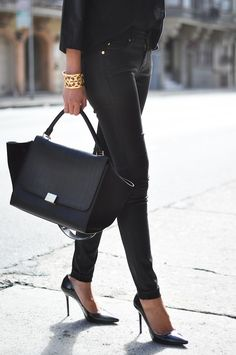 All black chic.