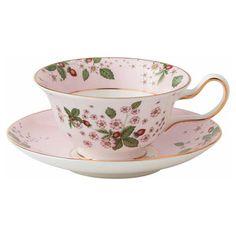 wedgwood  ワイルドストロベリー ブルーム ティーカップ&ソーサー ピンク ピオニー