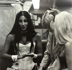Apparently in the Easter spirit, Playboy founder Hugh Hefner dug up a classic photo of the icon dressed as a Playboy bunny at one of his clubs during the early 1970s. Hef decided to share the classic photo on his social media as part of #flashbackfriday.