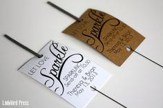 Wedding Sparkler Send Off Tags - Personalized Printable Wedding Favor Sparkler Tags -Let Love Sparkle - Sparkler Send-Off - PDF - AA2