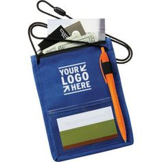 The Identity Badge Holder, Others will take note of your brand when you choose the Identity Badge Holder for your next marketing campaign. This product can be used to hold many different items for your convenience. The non-woven polypropylene case features a large main zippered top pocket, a clear PVC pocket on each side for badge display, an elastic pen loop on front and a breakaway lanyard for easy carrying. Make it a smart business investment with a logo added on