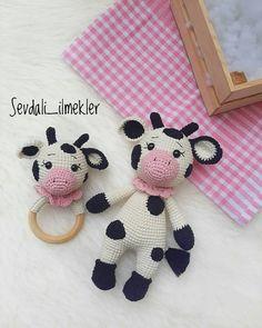 Crochet Bear Patterns, Crochet Cow, Crochet Baby Toys, Crochet Gratis, Amigurumi Patterns, Amigurumi Doll, Free Crochet, Cow Pattern, Crochet Home Decor
