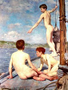 The Bathers by Henry Scott Tuke, 1889