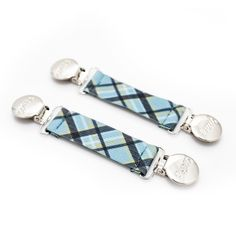 Adjustable Boot Straps - Blue Tartan