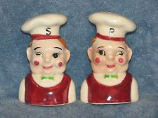 Cute Chef or Cook Salt and Pepper Shakers