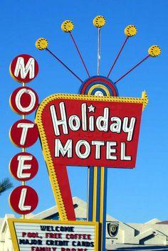 Holiday Motel Sign Las Vegas