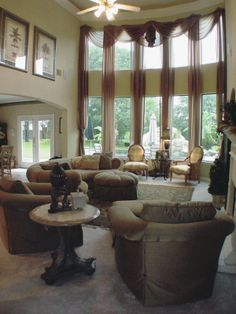 Living Room 2 Windows two story great room- update | window wall, window and decorating