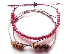 Adjustable bracelet set/Hemp bracelet/Irish by PepperandPomme, $15.00