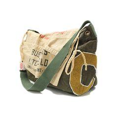 DENIM DUNGAREE(デニム&ダンガリー):リメイクショルダーBAG 9KHカーキ の通販【ブランド子供服のミリバール】