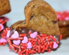 Valentine's Chocolate Chip Cookie Hearts - Because We Heart Cookies