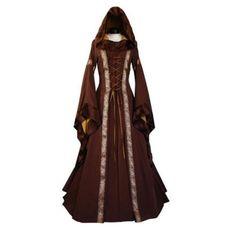 New Fashion Bandage Long Dress Women Lady Vampire Witch Dresses Medieval Renaissance Vintage Long Sleeve Girl Dress Vestidos Victorian Dress Costume, Gothic Dress, Lolita Dress, Renaissance Dresses, Medieval Dress, Medieval Fashion, Renaissance Costume, Medieval Outfits, Medieval Clothing