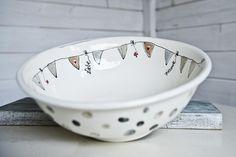 Keramikschüssel selbst gestaltet