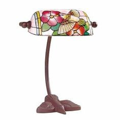 """#Table #Lamp Bronze Bird Tiffany Style Lamp Stained Glass 7.5"""" # 67012 Shop --> http://www.rensup.com/Table-Lamps/Table-Lamps-Bronze-Table-Lamp-Bird-Tiffany-Style-7-1-by-2H/pd/67012.htm?CFID=1662069&CFTOKEN=8c758c5d1f381484-C10B0AE3-F968-AB58-EEF94F22EA157495"""