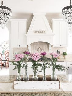 Styled with Lace, white French  country kitchen
