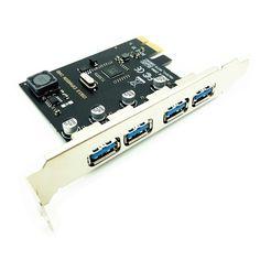 4 Port USB 3.0 PCI-E Expansion Card PCI Express PCIe USB 3.0 HUB Adapter 4-Port USB3.0 Controller USB 3 0 PCI e PCIe Express 1X Usb, Windows Xp, Fix You, The Expanse, Type