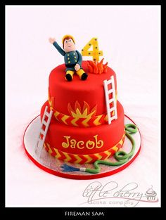 Fireman Sam by Little Cherry Cake Company, via Flickr