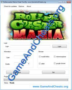 Rollercoaster Mania Hack tool | Cash and Credits - http://gameandcheats.org/rollercoaster-mania-hack-tool-cash-and-credits/