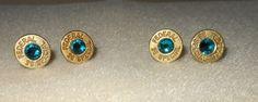 Bullet Shell Earrings/Pierced Bullet shell by CreationsbyMaryEllen