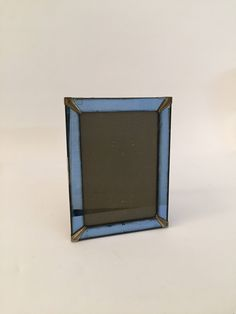 Blue Mirrored Glass Art Deco Picture Frame by AnthonyRosaModern on Etsy
