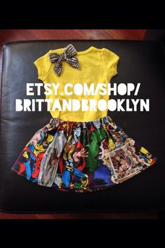 Marvel superhero character baby girl skirt size 6-12 months, 12-18 months and 24m/2t , 3t and 4t available on Etsy, $12.00