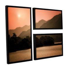 ArtWall Peach Dream by Dennis Frates 3 Piece Framed Photographic Print Set