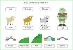 Three Billy Goats Gruff Word Mat | Free EYFS / KS1 Resources for Teachers