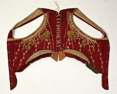 Bodice (back view) Date: 1790s Culture: French Medium: silk, linen Accession Number: C.I.60.22.19a, b