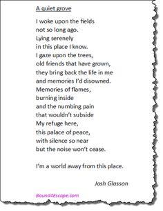 A quiet grove by Josh Glasson