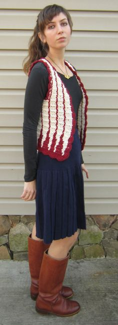 Crochet vest - like the color work